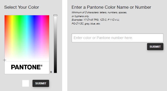 Pantone Renk bulmak için tıklayınız.